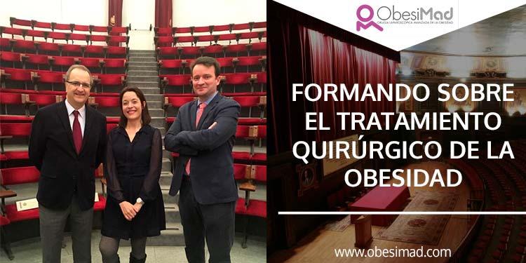 """Formando sobre el tratamiento quirúrgico de la obesidad en """"Fórmate en tu Colegio"""""""