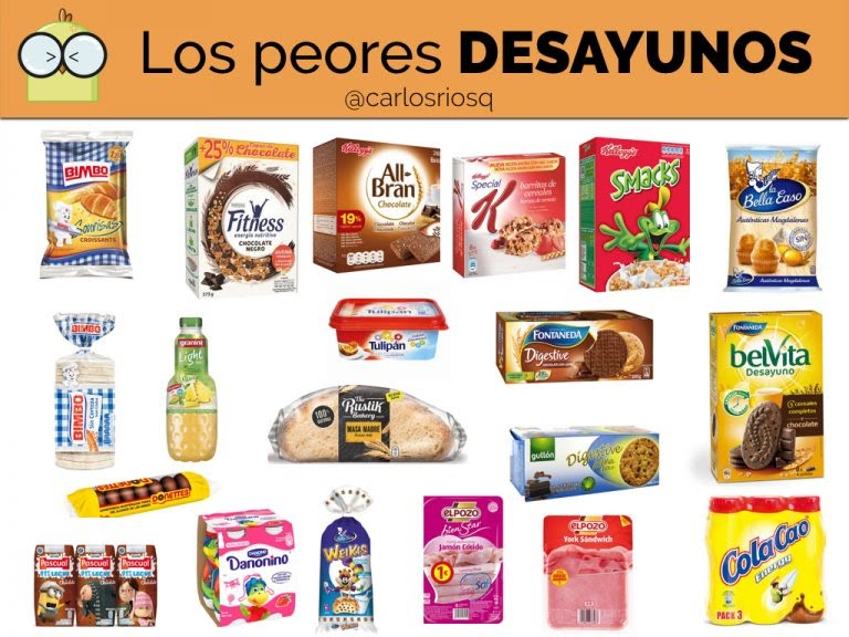 Los peores desayunos. Imagen de Realfooding.com