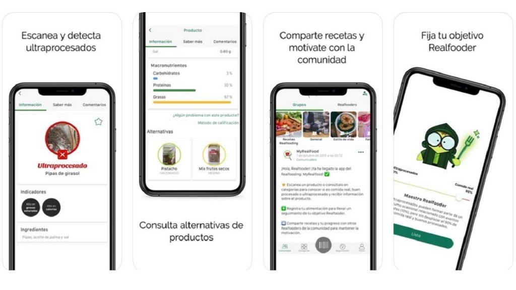 La App de My Realfooding te dice qué productos son buenos o malos procesados